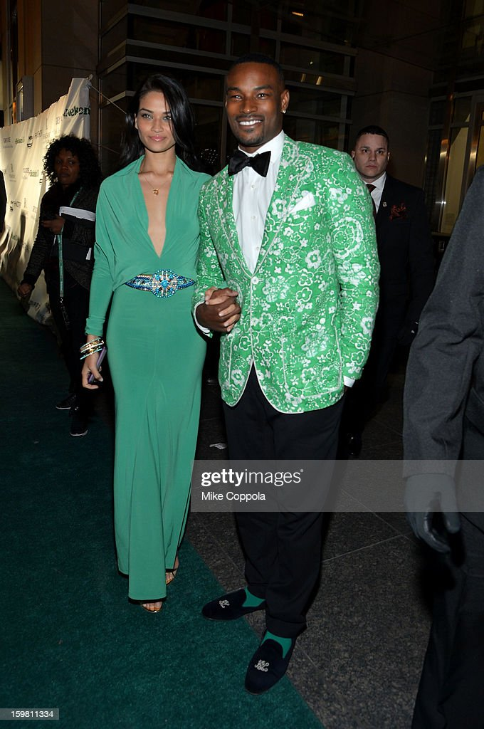 Tyson Beckford (R) and Shanina Shaik attend The Hip Hop Inaugural Ball II sponsored by Heineken USA at Harman Center for the Arts on January 20, 2013 in Washington, DC.