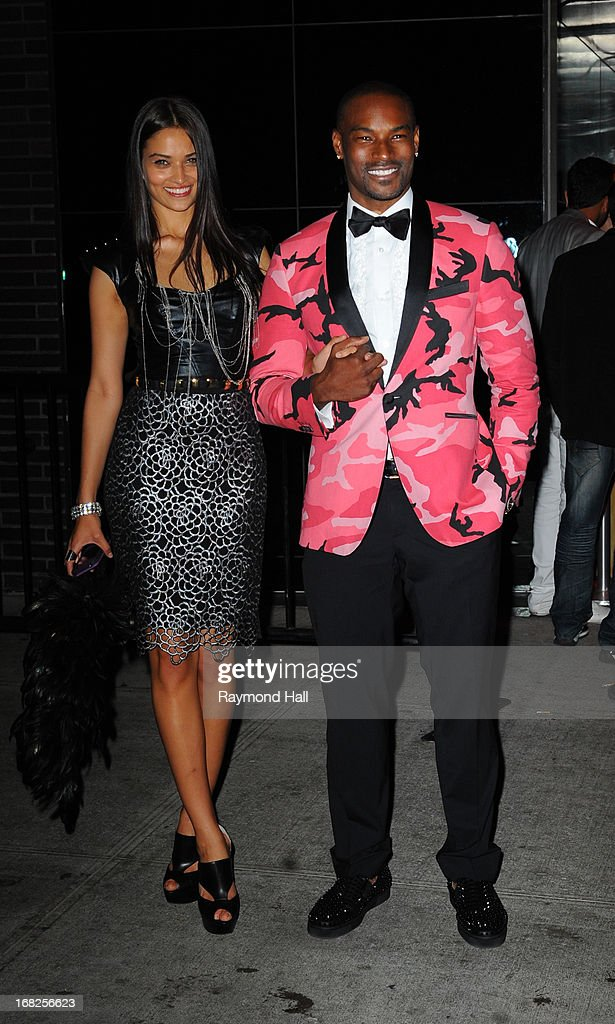 Tyson Beckford and Shanina Shaik attend the 'PUNK: Chaos To Couture' Costume Institute Gala after party at The Standard hotel on May 6, 2013 in New York City.