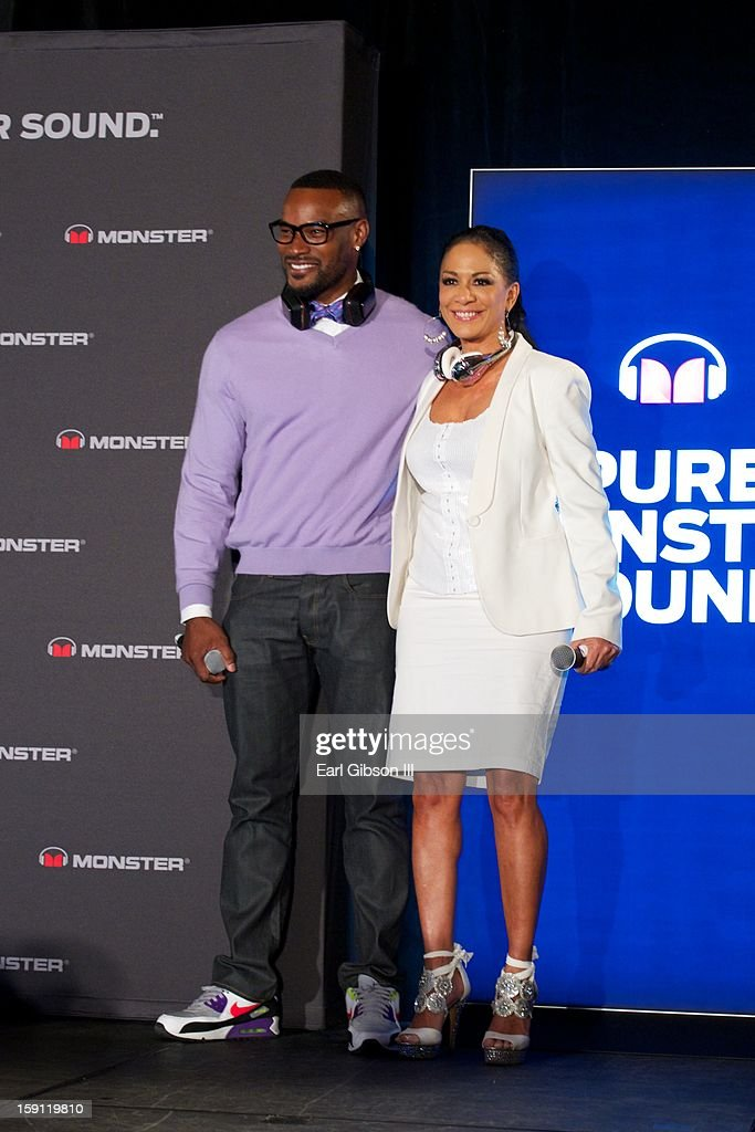 Tyson Beckford and Sheila E. attend the Monster Press Conference at the Mandalay Bay Convention Center on January 7, 2013 in Las Vegas, Nevada.