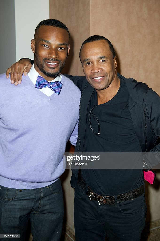 <a gi-track='captionPersonalityLinkClicked' href=/galleries/search?phrase=Tyson+Beckford&family=editorial&specificpeople=210873 ng-click='$event.stopPropagation()'>Tyson Beckford</a> and Sugar Ray Leonard attend the Monster Press Conference at the Mandalay Bay Convention Center on January 7, 2013 in Las Vegas, Nevada.