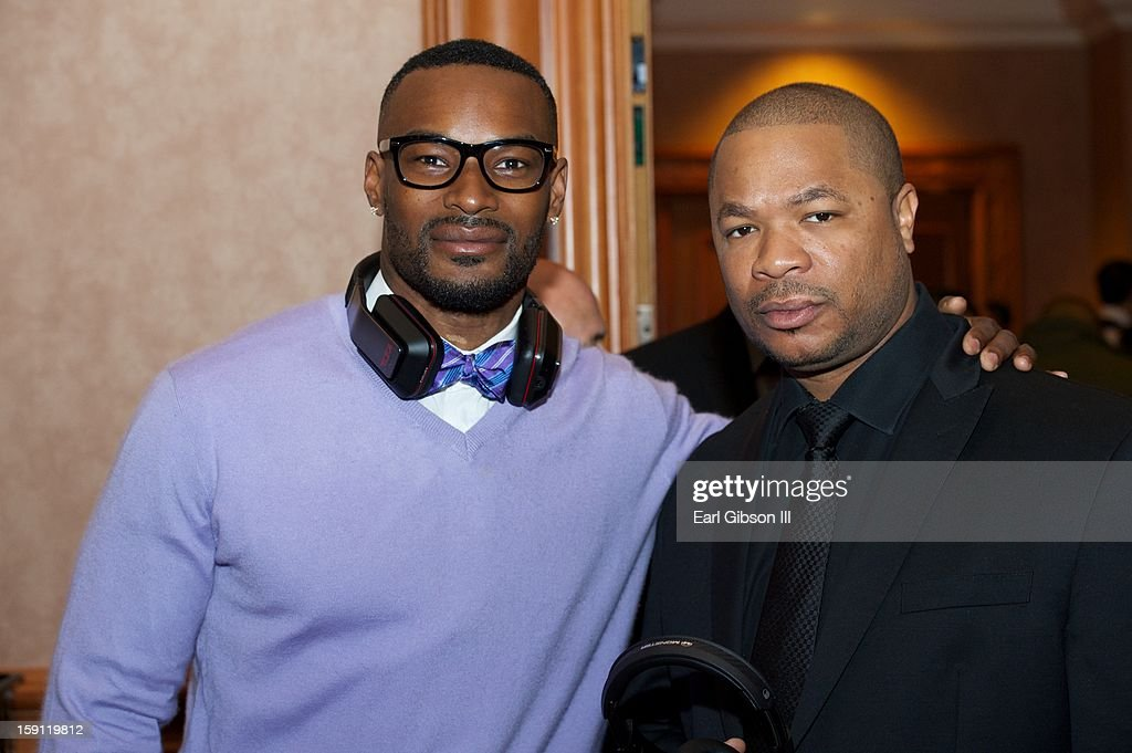 <a gi-track='captionPersonalityLinkClicked' href=/galleries/search?phrase=Tyson+Beckford&family=editorial&specificpeople=210873 ng-click='$event.stopPropagation()'>Tyson Beckford</a> and Xzhibit attend the Monster Press Conference at the Mandalay Bay Convention Center on January 7, 2013 in Las Vegas, Nevada.