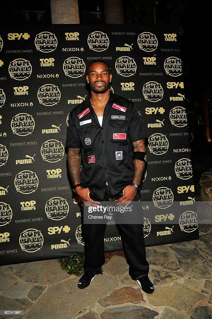 Tyson Beckford arrives at the Gumball 3000's 10th Anniversary VIP Party at the Tropicana Bar At The Roosevelt Hotel on August 9, 2008 in Hollywood, California.