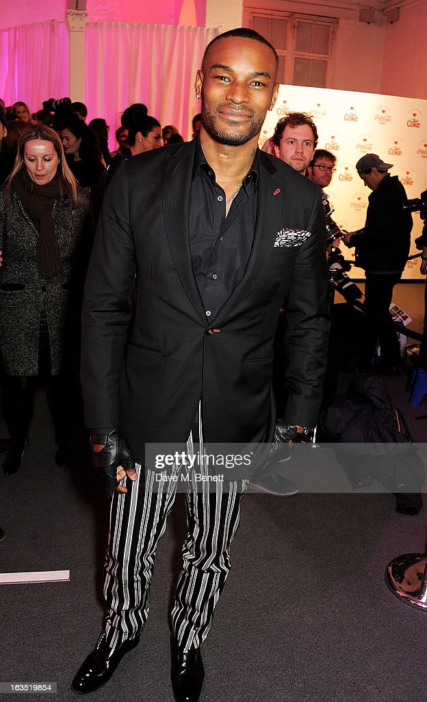 Tyson Beckford attends a party celebrating 30 years of Diet Coke and announcing designer Marc Jacobs as Creative Director for Diet Coke in 2013 at the German Gymnasium Kings Cross on March 11, 2013 in London, England.