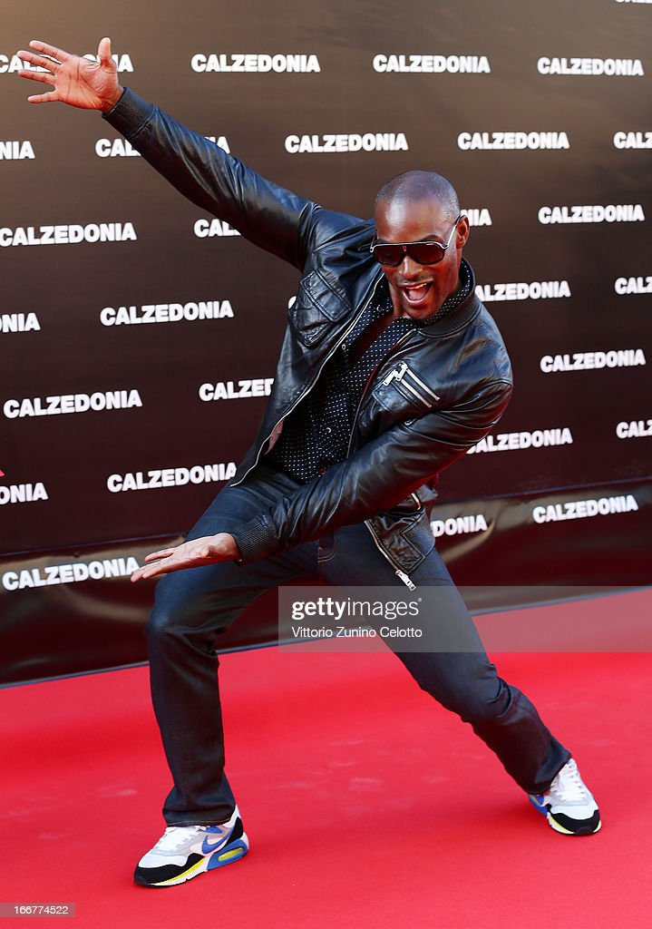 <a gi-track='captionPersonalityLinkClicked' href=/galleries/search?phrase=Tyson+Beckford&family=editorial&specificpeople=210873 ng-click='$event.stopPropagation()'>Tyson Beckford</a> attends Calzedonia Summer Show Forever Together on April 16, 2013 in Rimini, Italy.