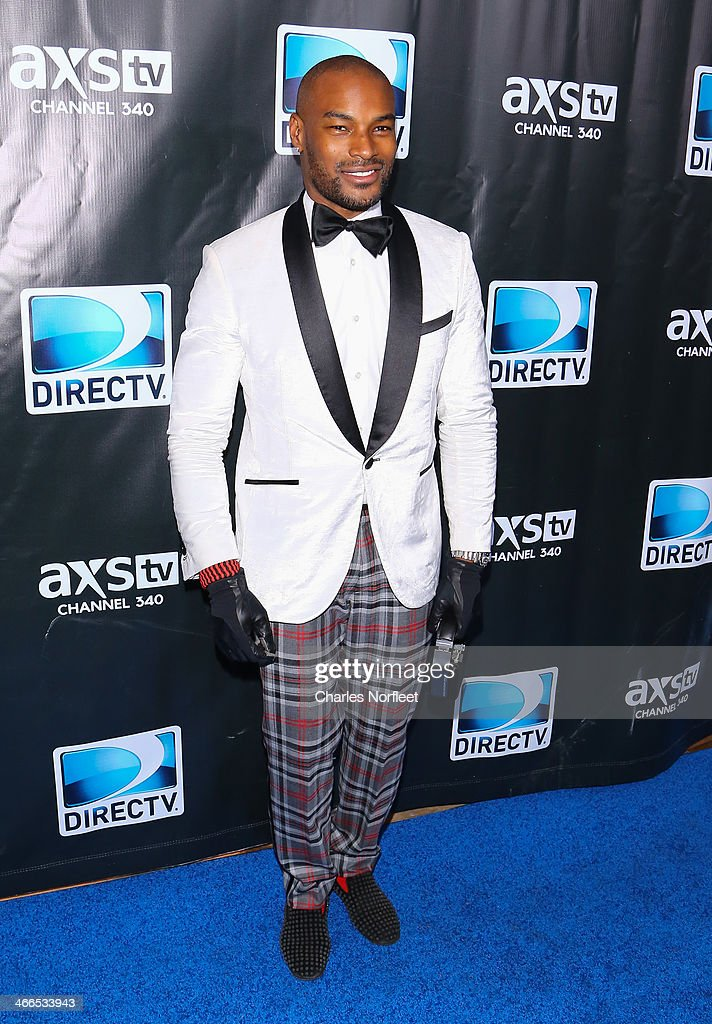 <a gi-track='captionPersonalityLinkClicked' href=/galleries/search?phrase=Tyson+Beckford&family=editorial&specificpeople=210873 ng-click='$event.stopPropagation()'>Tyson Beckford</a> attends the DirecTV Super Saturday Night at Pier 40 on February 1, 2014 in New York City.