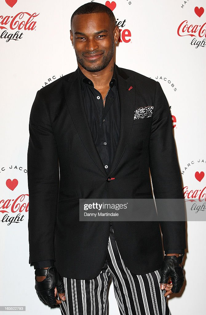 <a gi-track='captionPersonalityLinkClicked' href=/galleries/search?phrase=Tyson+Beckford&family=editorial&specificpeople=210873 ng-click='$event.stopPropagation()'>Tyson Beckford</a> attends the launch party announcing Marc Jacobs as the Creative Director for Diet Coke in 2013 on March 11, 2013 in London, England.