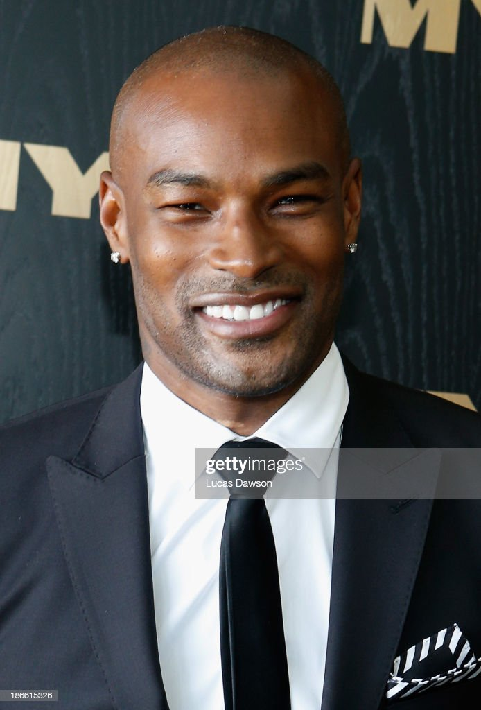 Tyson Beckford attends the Myer marquee on Victoria Derby Day at Flemington Racecourse on November 2, 2013 in Melbourne, Australia.