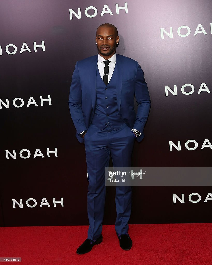 <a gi-track='captionPersonalityLinkClicked' href=/galleries/search?phrase=Tyson+Beckford&family=editorial&specificpeople=210873 ng-click='$event.stopPropagation()'>Tyson Beckford</a> attends the 'Noah' premiere at Ziegfeld Theatre on March 26, 2014 in New York City.