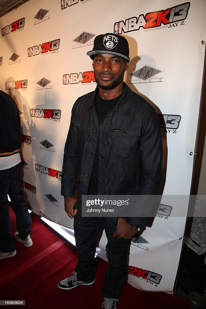 Tyson Beckford attends The Premiere Of NBA 2K13 With Cover Athletes And NBA Superstars at 40 / 40 Club on September 26, 2012 in New York City.