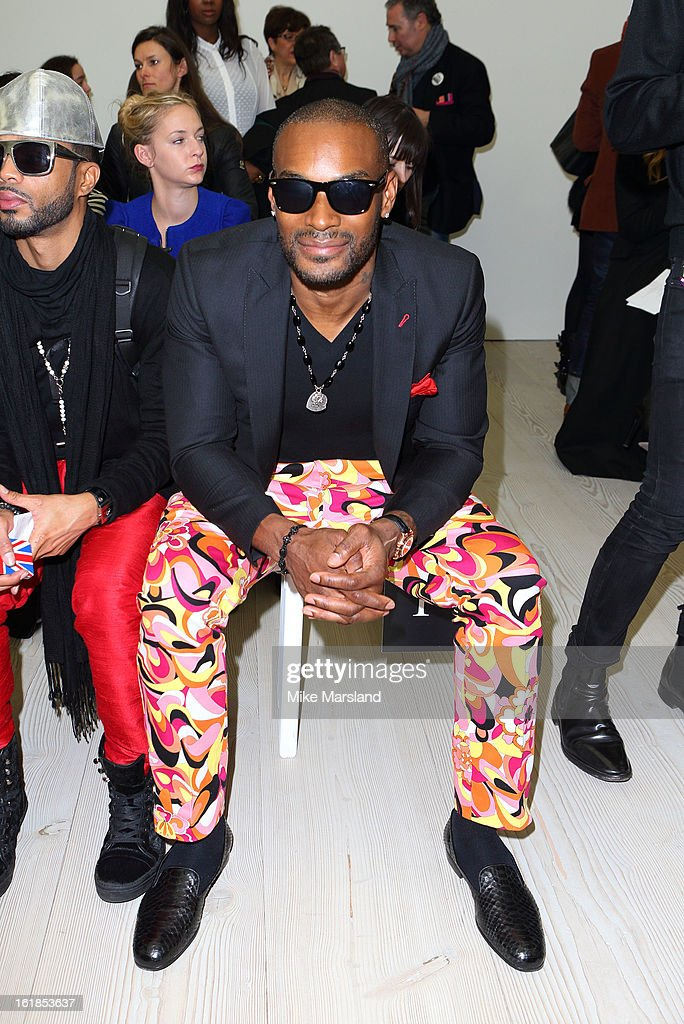 <a gi-track='captionPersonalityLinkClicked' href=/galleries/search?phrase=Tyson+Beckford&family=editorial&specificpeople=210873 ng-click='$event.stopPropagation()'>Tyson Beckford</a> attends the Vivienne Westwood Red Label show during London Fashion Week Fall/Winter 2013/14 at on February 17, 2013 in London, England.
