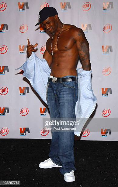 Tyson Beckford during 2003 VIBE Awards Pressroom at Civic Auditorium in Santa Monica California United States