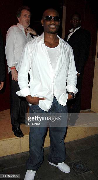Tyson Beckford during Prince of Brunei Birthday Party June 24 2005 at Frankie's Bar Grill in London Great Britain