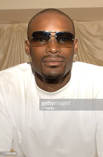 Tyson Beckford during Tyson Beckford Portrait Session June 24 2005 at Dorchester Hotel London in London Great Britain