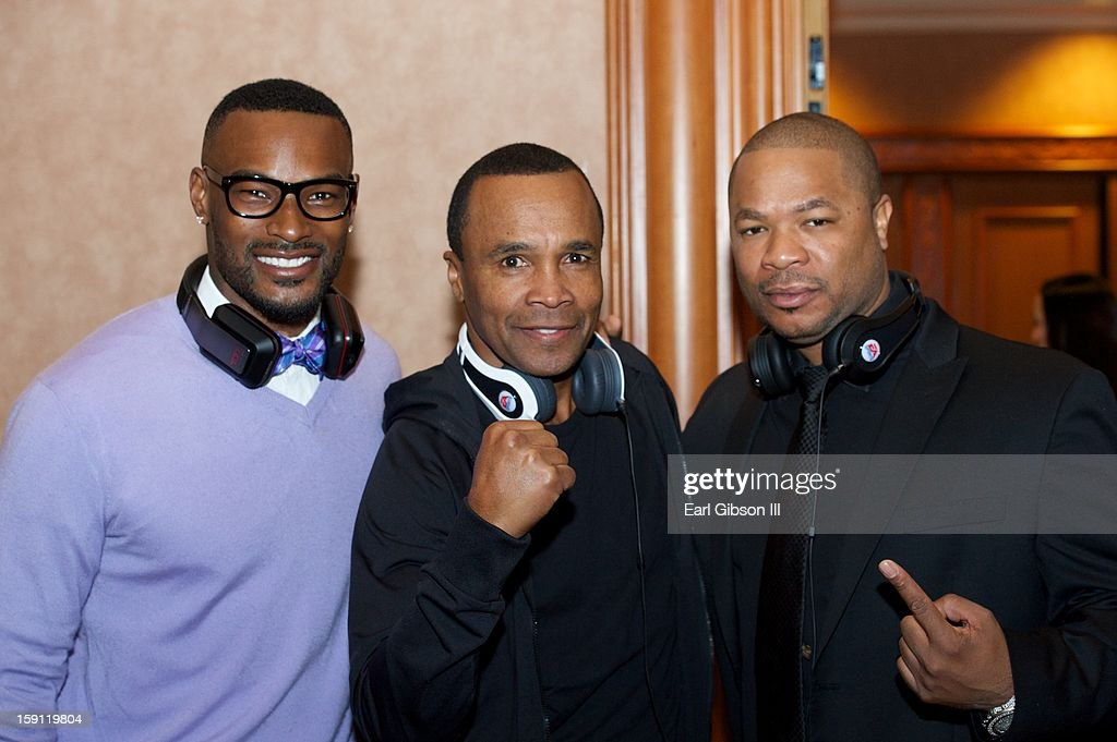 Tyson Beckford, Sugar Ray Leonard and Xzhibit attend the Monster Press Conference at the Mandalay Bay Convention Center on January 7, 2013 in Las Vegas, Nevada.