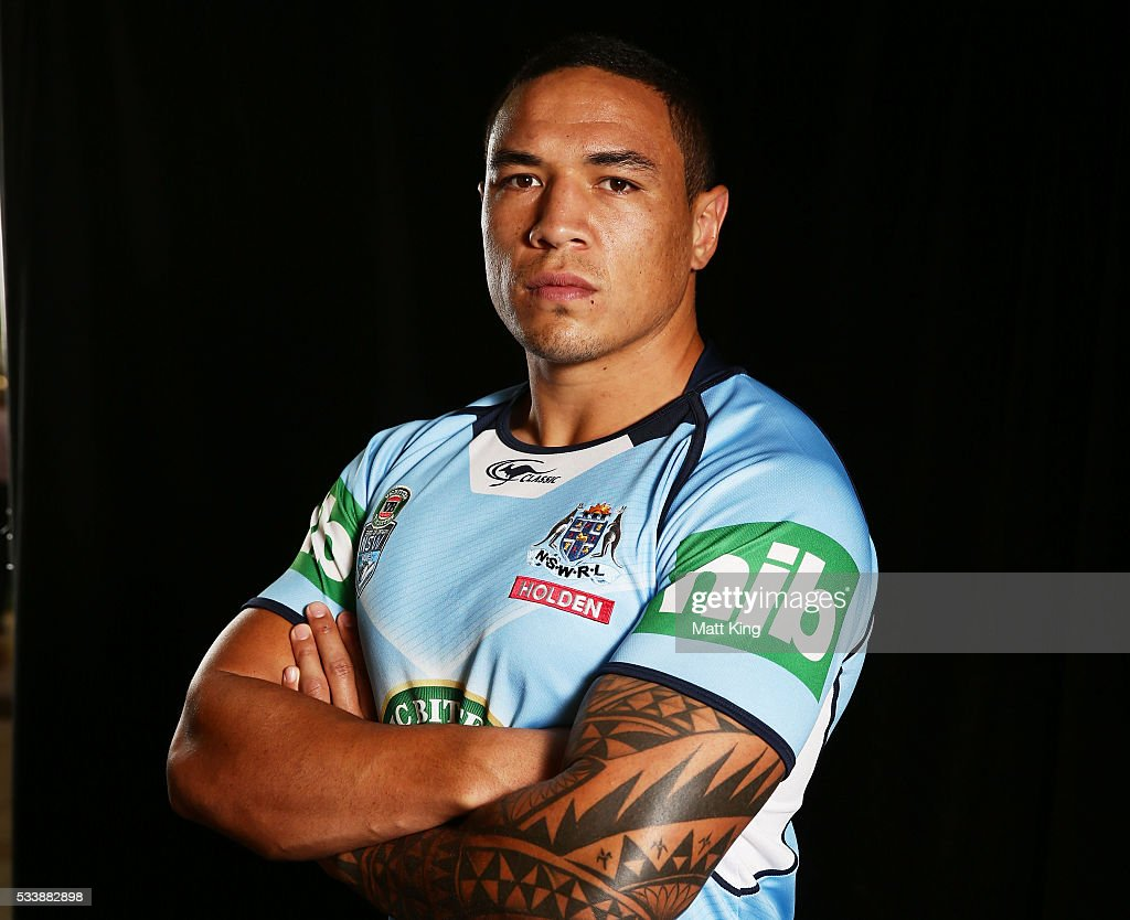 Tyson Frizell of the Blues poses during a New South Wales Blues NRL State of Origin portrait session at The Novatel on May 24, 2016 in Coffs Harbour, Australia.