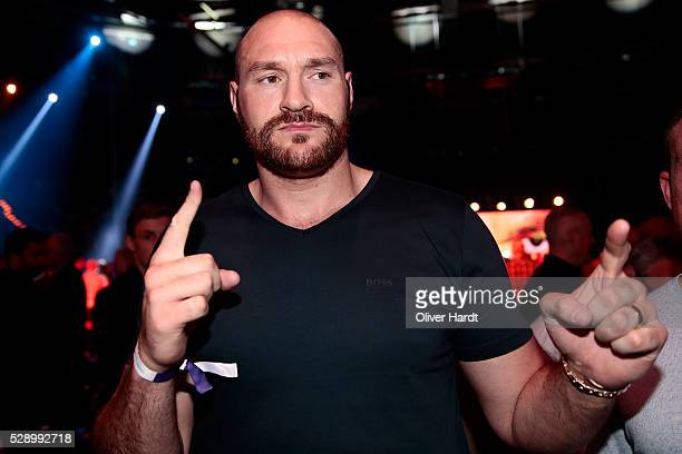 Tyson Fury before the match Kubrat Pulev and Dereck Chisora during Heavyweight European Championship at Barclaycard Arena on May 7 2016 in Hamburg...