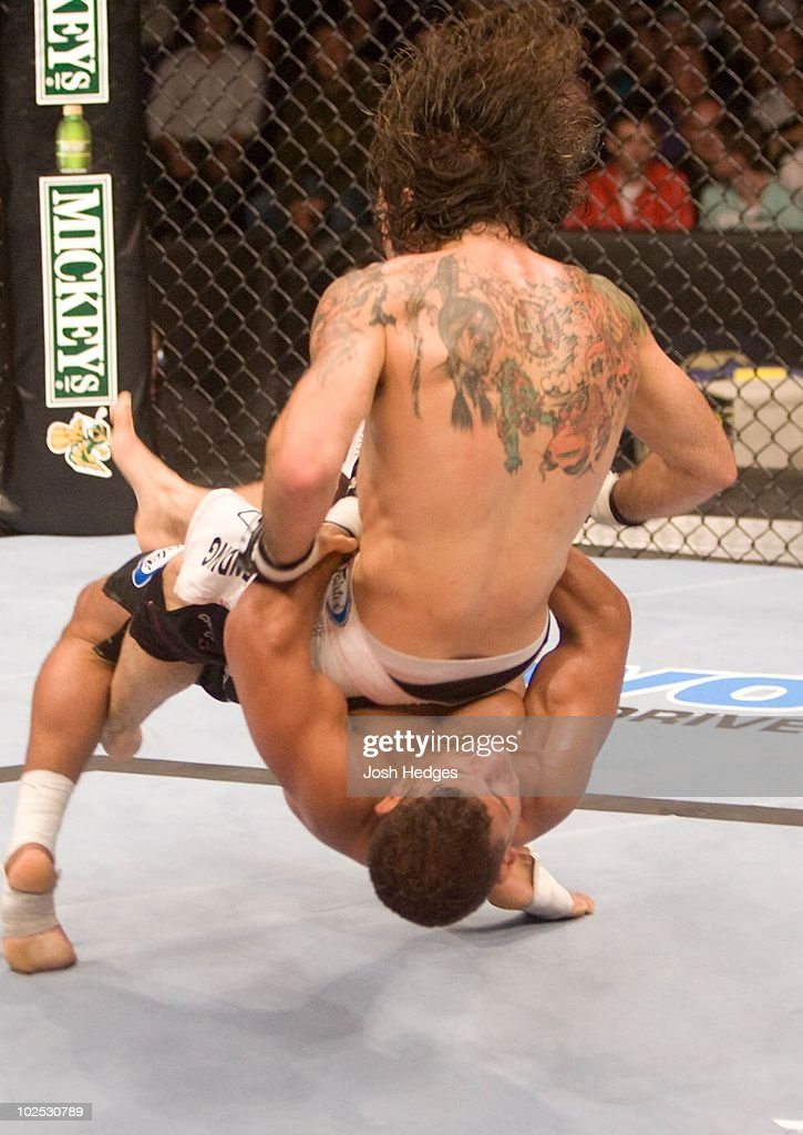 Tyson Griffin (black shorts) def. Clay Guida (white shorts) - Split Decision during UFC 72 at Odyssey Arena on June 16, 2007 in Belfast, Northern Ireland.