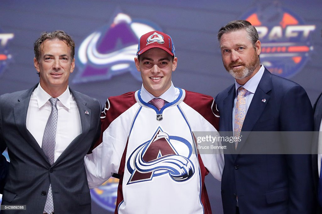 <a gi-track='captionPersonalityLinkClicked' href=/galleries/search?phrase=Tyson+Jost&family=editorial&specificpeople=13789246 ng-click='$event.stopPropagation()'>Tyson Jost</a> celebrates with the Colorado Avalanche after being selected tenth overall during round one of the 2016 NHL Draft on June 24, 2016 in Buffalo, New York.