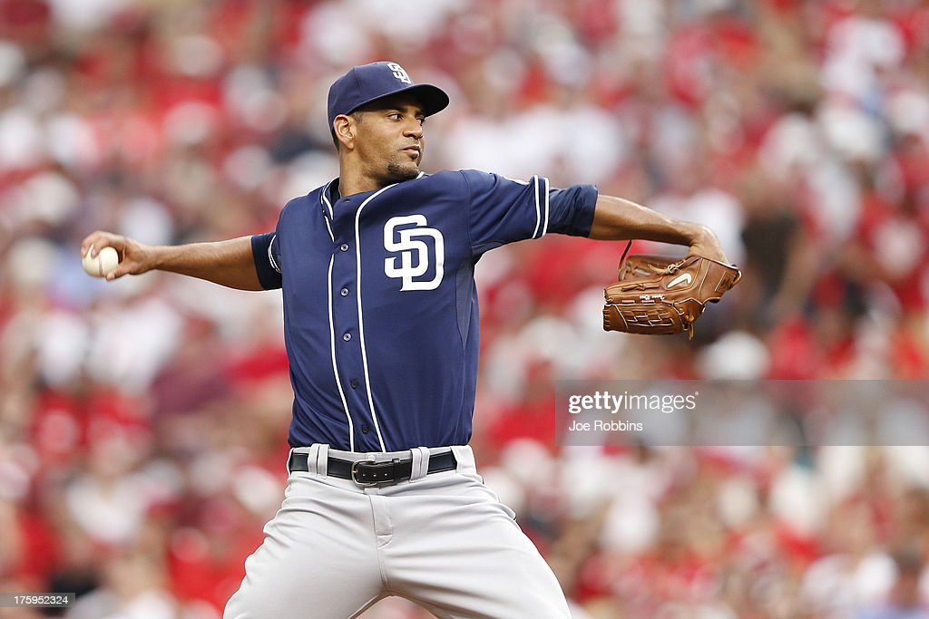 Tyson Ross #38 of the San Diego Padres pitches against the Cincinnati Reds during the game at Great American Ball Park on August 10, 2013 in Cincinnati, Ohio.