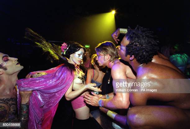 Tytania and dancers at the Donkey Show A Midsummer Night's Dream disco at the Hanover Grand in London
