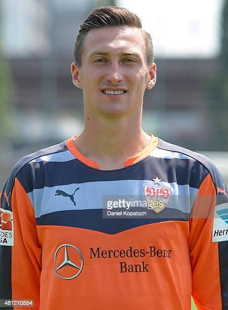 Tyton Przemyslaw poses during the VfB Stuttgart team presentation on July 17 2015 in Stuttgart Germany