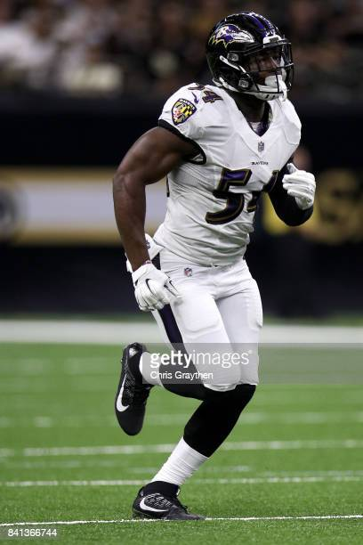 Tyus Bowser of the Baltimore Ravens in action against the New Orleans Saints at MercedesBenz Superdome on August 31 2017 in New Orleans Louisiana