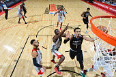 Tyus Jones of the Minnesota Timberwolves shoots the ball against the Chicago Bulls during the 2016 NBA Las Vegas Summer League game on July 18 2016...