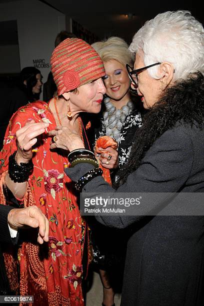 Tziporah Salamon and Iris Apfel attend The NEW YORK TIMES BERGDORF GOODMAN Celebrate a Photography Retrospective by BILL CUNNINGHAM at Bergdorf...