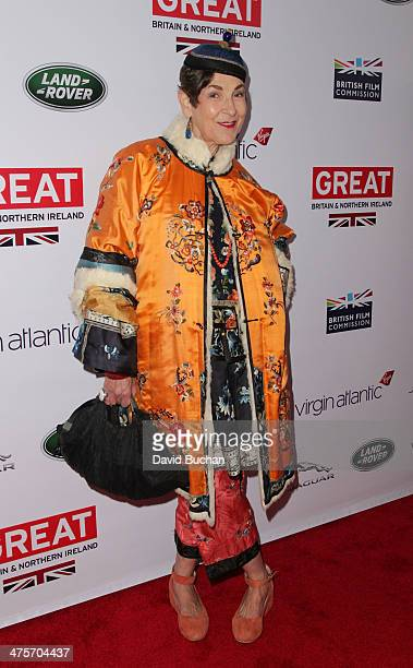 Tziporah Salamon attends the 2014 GREAT British Oscar Reception on February 28 2014 in Los Angeles California