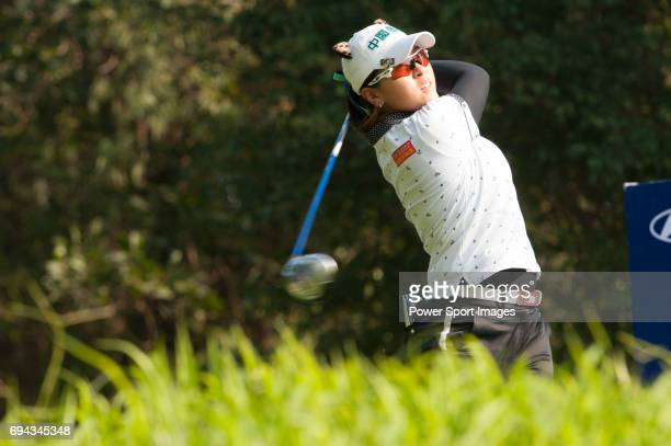 TzuChi Lin of Chinese Taipei in action during the Hyundai China Ladies Open 2014 at World Cup Course in Mission Hills Shenzhen on December 13 in...