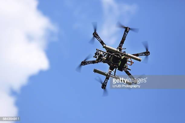 Uav drone flying in the sky, Lermoos, Austria