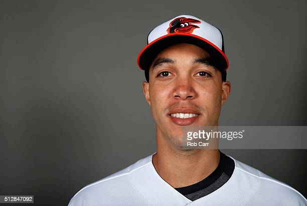 Ubaldo Jimenez of the Baltimore Orioles poses during photo day at Ed Smith Stadium on February 28 2016 in Sarasota Florida
