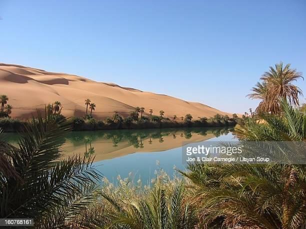Ubari lakes, Libyan Sahara.