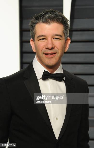 Uber CEO Travis Kalanick attends the 2017 Vanity Fair Oscar Party hosted by Graydon Carter at Wallis Annenberg Center for the Performing Arts on...