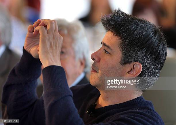Uber CEO Travis Kalanick is the guest speaker at the Boston College CEO forum and luncheon at the Boston Harbor Hotel in Boston on Dec 1 2015 He...