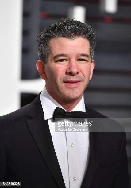 Uber Founder and CEO Travis Kalanick attends the 2017 Vanity Fair Oscar Party hosted by Graydon Carter at Wallis Annenberg Center for the Performing...