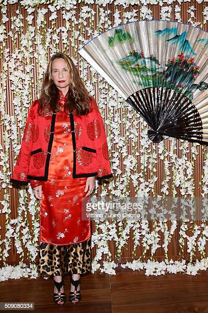 Uberta Zambeletti attends Chinese New Year Party at Mandarin Oriental on February 8 2016 in Milan Italy