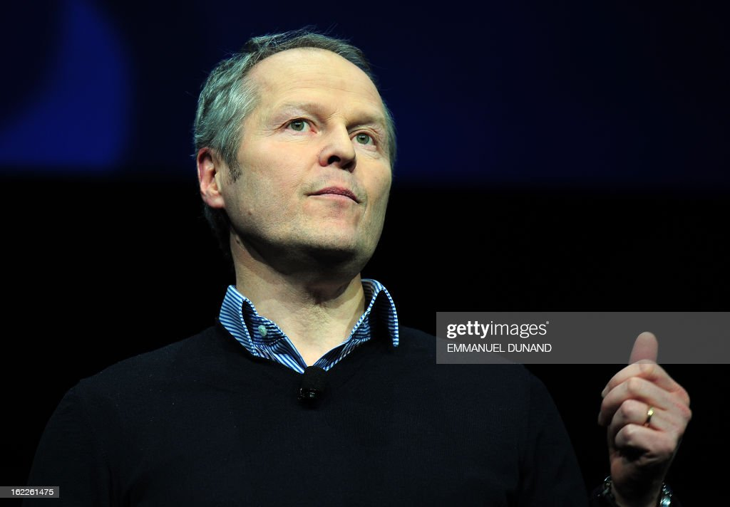 Ubisoft CEO Yves Guillemot, talks as Sony introduces the PlayStation 4 at a news conference February 20, 2013 in New York.
