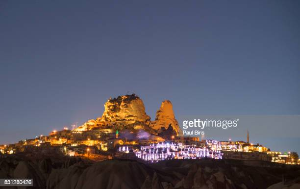 Uchisar, the highest town in biblical Cappadocia, Turkey, with its natural rock castle.