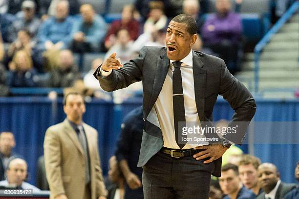 UConn Huskies Head Coach Kevin Ollie reacts on the baseline during the second half a men's NCAA division 1 basketball game between the Houston...