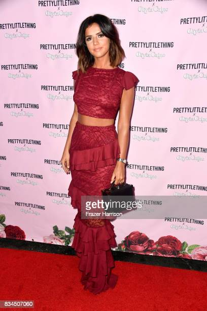 ucy Meck attends PrettyLittleThing X Olivia Culpo Launch at Liaison Lounge on August 17 2017 in Los Angeles California