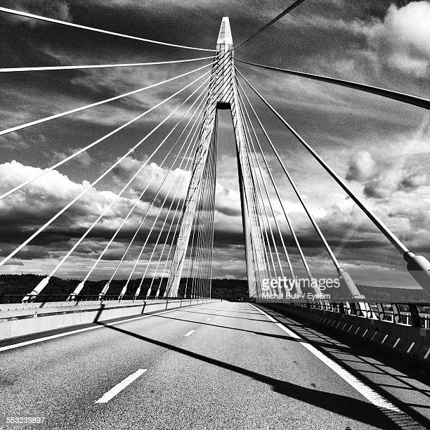 Uddevalla Bridge Against Cloudy Sky