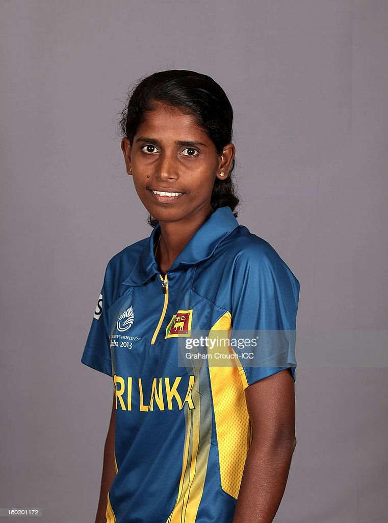 Udeshika Prabodani of Sri Lanka poses at a portrait session ahead of the ICC Womens World Cup 2013 at the Taj Mahal Palace Hotel on January 27, 2013 in Mumbai,India.