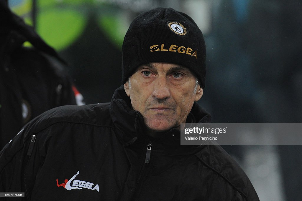 Udinese Calcio head coach Francesco Guidolin looks on during the Serie A match between Juventus and Udinese Calcio at Juventus Arena on January 19, 2013 in Turin, Italy.
