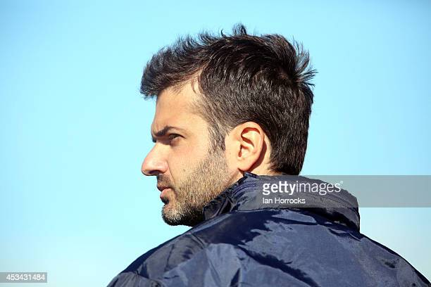 Udinese coach Andrea Stramaccioni during a preseason friendly match between Sunderland AFC and Udinese at Heritage Park on August 09 2014 in Bishop...