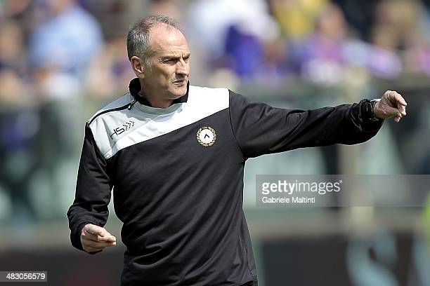 Udinese head coach Francesco Guidolin looks before the Serie A match between ACF Fiorentina and Udinese Calcio at Stadio Artemio Franchi on April 6...