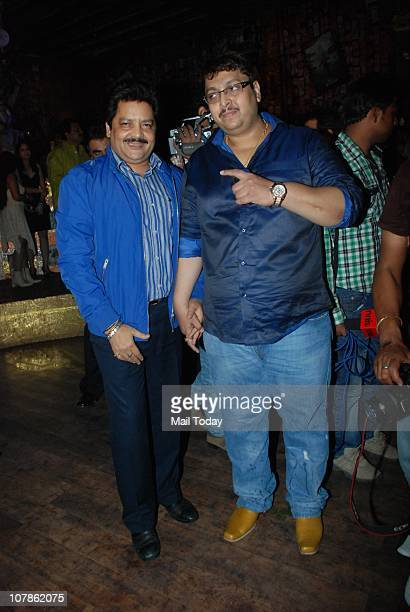 Udit Narayan and Sanjay Bedia at Salma Agha's bash at Dockyard in Mumbai