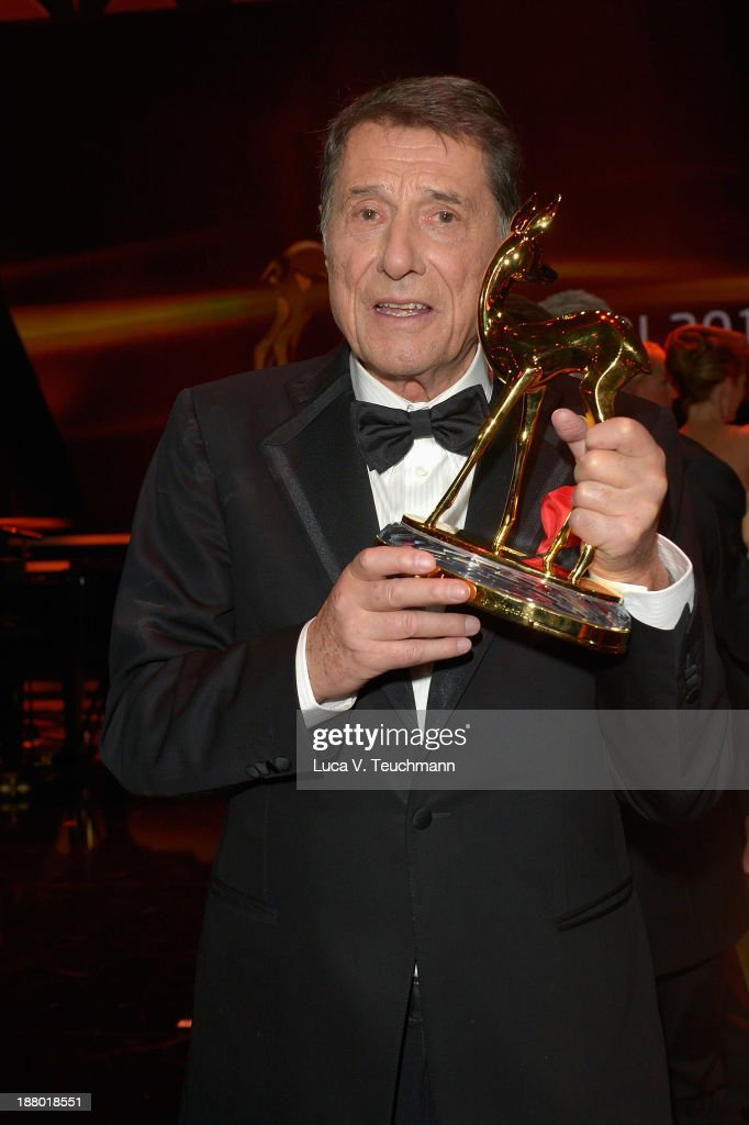 Udo Juergens poses on stage at the Bambi Awards 2013 at Stage Theater on November 14, 2013 in Berlin, Germany.