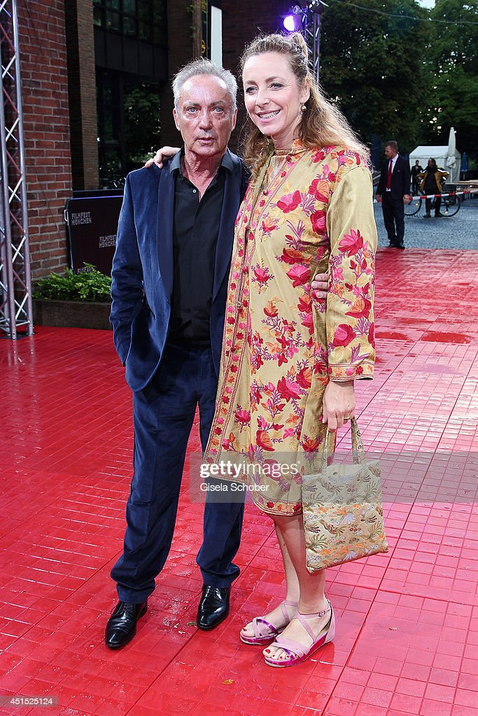 <a gi-track='captionPersonalityLinkClicked' href=/galleries/search?phrase=Udo+Kier&family=editorial&specificpeople=703878 ng-click='$event.stopPropagation()'>Udo Kier</a> and <a gi-track='captionPersonalityLinkClicked' href=/galleries/search?phrase=Diana+Iljine&family=editorial&specificpeople=9512424 ng-click='$event.stopPropagation()'>Diana Iljine</a> attend the Cine Merit Award as part of Filmfest Muenchen at Carl-Orff-Saal on June 30, 2014 in Munich, Germany.