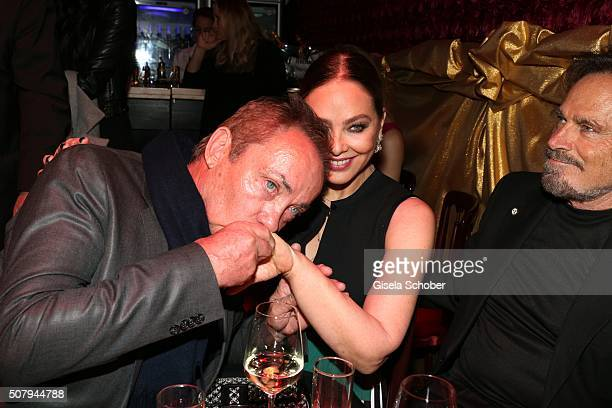 Udo Kier Ornella Muti and Franco Nero during the Lambertz Monday Night 2016 at Alter Wartesaal on February 1 2016 in Cologne Germany